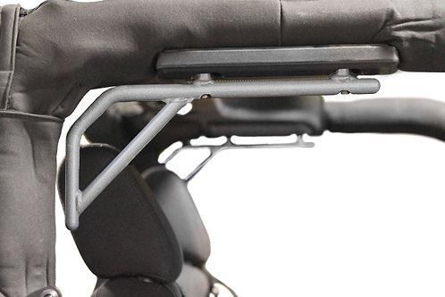 Grab Handle Kit, Jeep JK, Rear, Rigid Wire Form, Hammertone Gray.