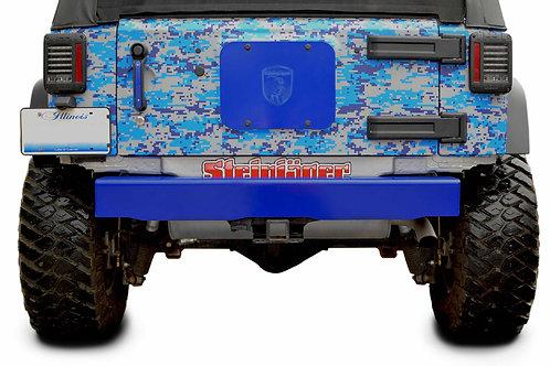 Steinjäger Bumpers Wrangler JK 2007-2018 Bumper, Rear Cap Style Southwest Blue