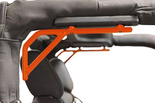 Grab Handle Kit, Jeep JK, Rear, Rigid Wire Form, Fluorescent Orange