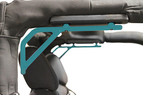 Grab Handle, Jeep JK, Rigid Wire Form, (Teal) Rear Seat, Kit, 2 Door Only