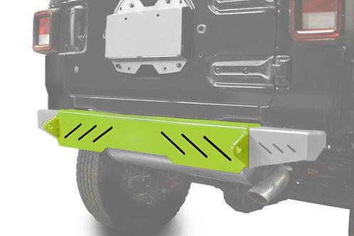 Wrangler JL 2018 to Present Bumper, Rear Cap Style Gecko Green