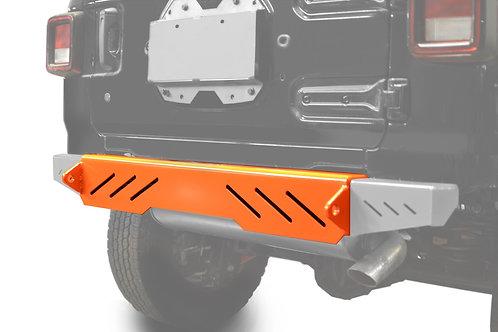 Wrangler JL 2018 to Present Bumper, Rear Cap Style Fluorescent Orange