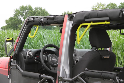 Grab Handle Kit, Jeep JK, Front and Rear, Rigid Wire Form, Lemon Peel