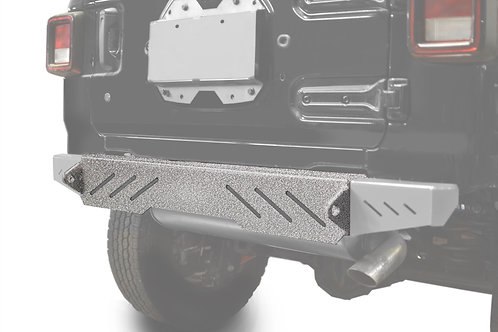 Wrangler JL 2018 to Present Bumper, Rear Cap Style Gray Hammertone