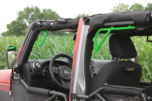Grab Handle Kit, Jeep JK, Front and Rear, Rigid Wire Form, Neon Green