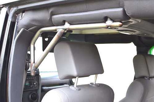 Grab Handle Kit, Jeep JK Rear, 4 Door Rigid Wire Form, Bare Metal