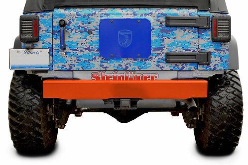 Wrangler JK 2007-2018 Bumper, Rear Cap Style Fluorescent Orange