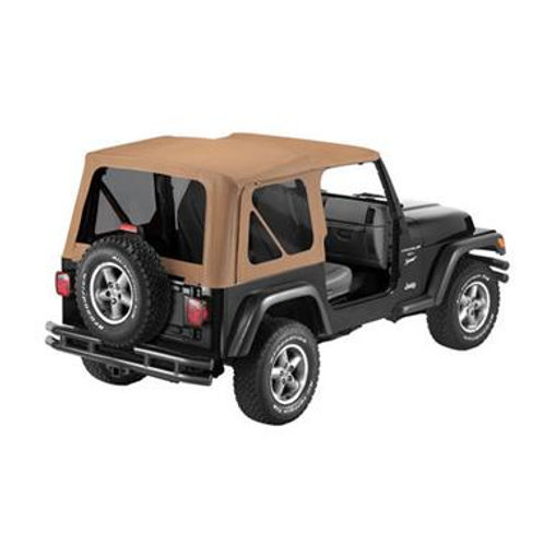 97-02 JEEP WRANGLER REPLACE-A-TOP FABRIC SOFT TOP ONLY INCL TINTED WINDOWS-SPICE