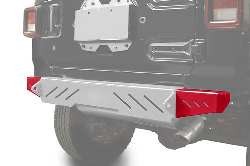 Wrangler JL 2018 to Present Bumper End Caps, Rear Cap Style Red Baron