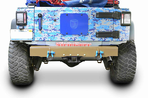 Wrangler JK 2007-2018 Bumper, Rear Cap Style with D-Ring Mounts Military Beige