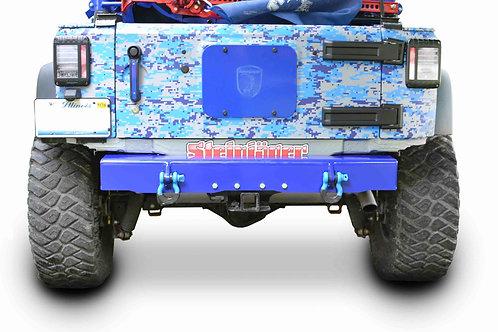 Wrangler JK 2007-2018 Bumper, Rear Cap Style with D-Ring Mounts Southwest Blue
