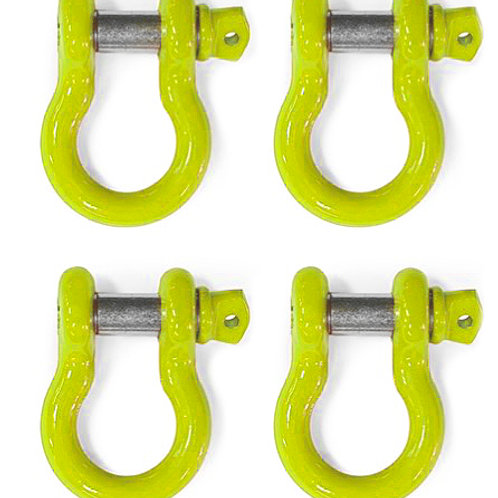 Steinjäger D-Ring Shackle Wrangler LJ 2004-2006 Neon Yellow 4 D-rings