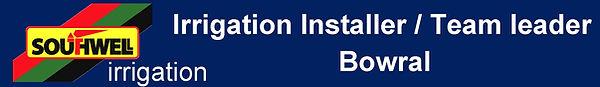 Southwell  Irrigation Installer Team Lea
