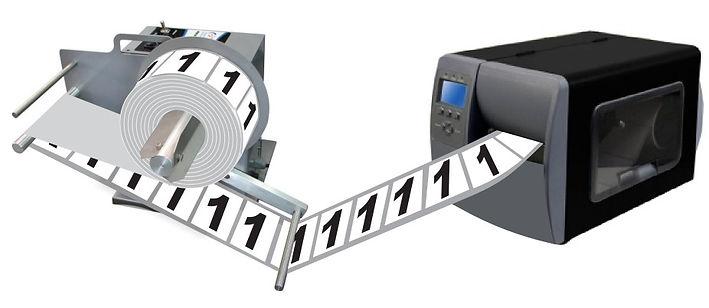 Rebobinador de Etiqueta para Impressoras