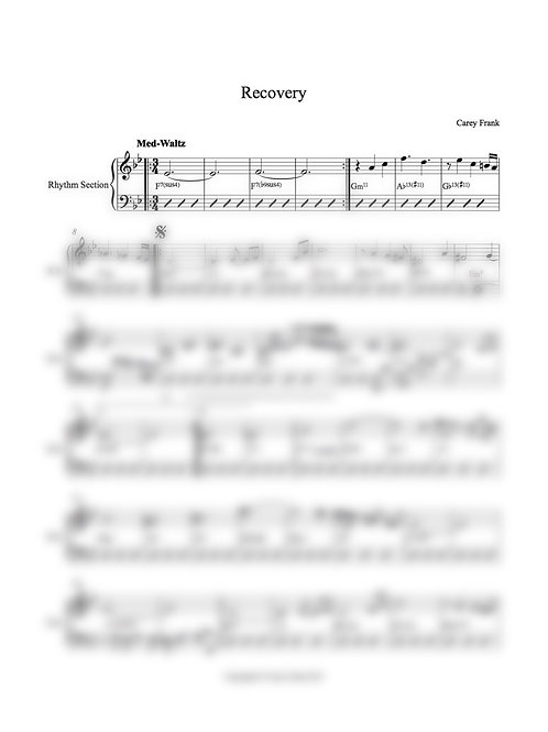 "Sheet Music to ""Recovery"""
