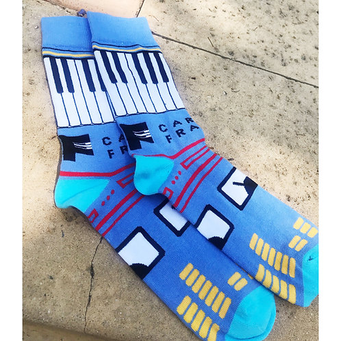 Unisex Piano Socks