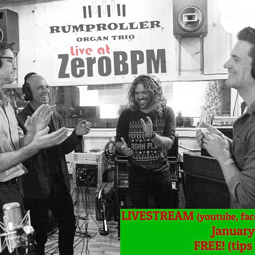 Rumproller Organ Trio - LiveAtZeroBPM Online Concert