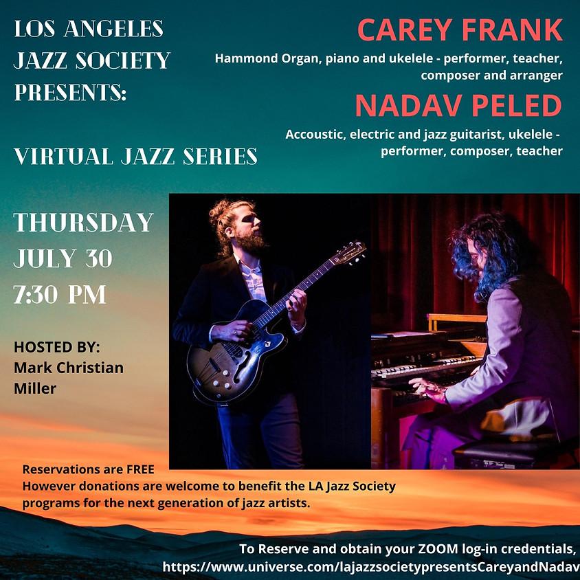 LA Jazz Society Presents: Carey Frank & Nadav Peled, duo performance (Virtual Concert))