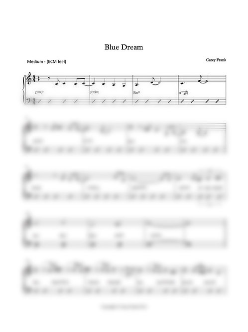 "Sheet Music to ""Blue Dream"""
