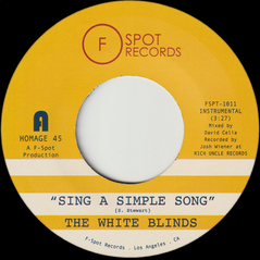 """The White Blinds, """"Sing a Simple Song"""" & """"Klapp Back"""" (Released 2019)"""