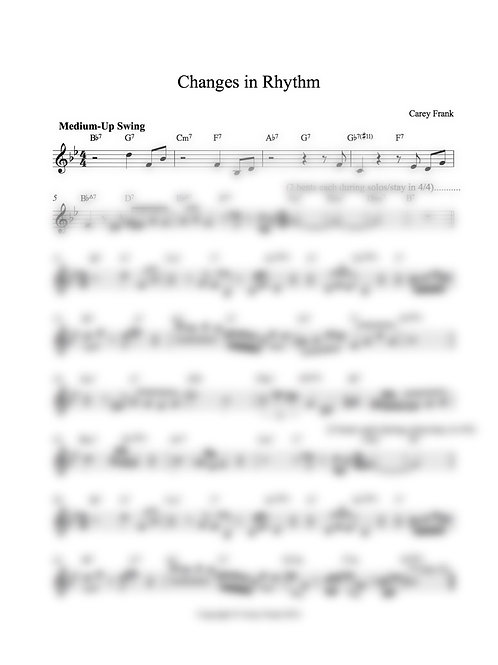"Sheet Music to ""Changes In Rhythm"""