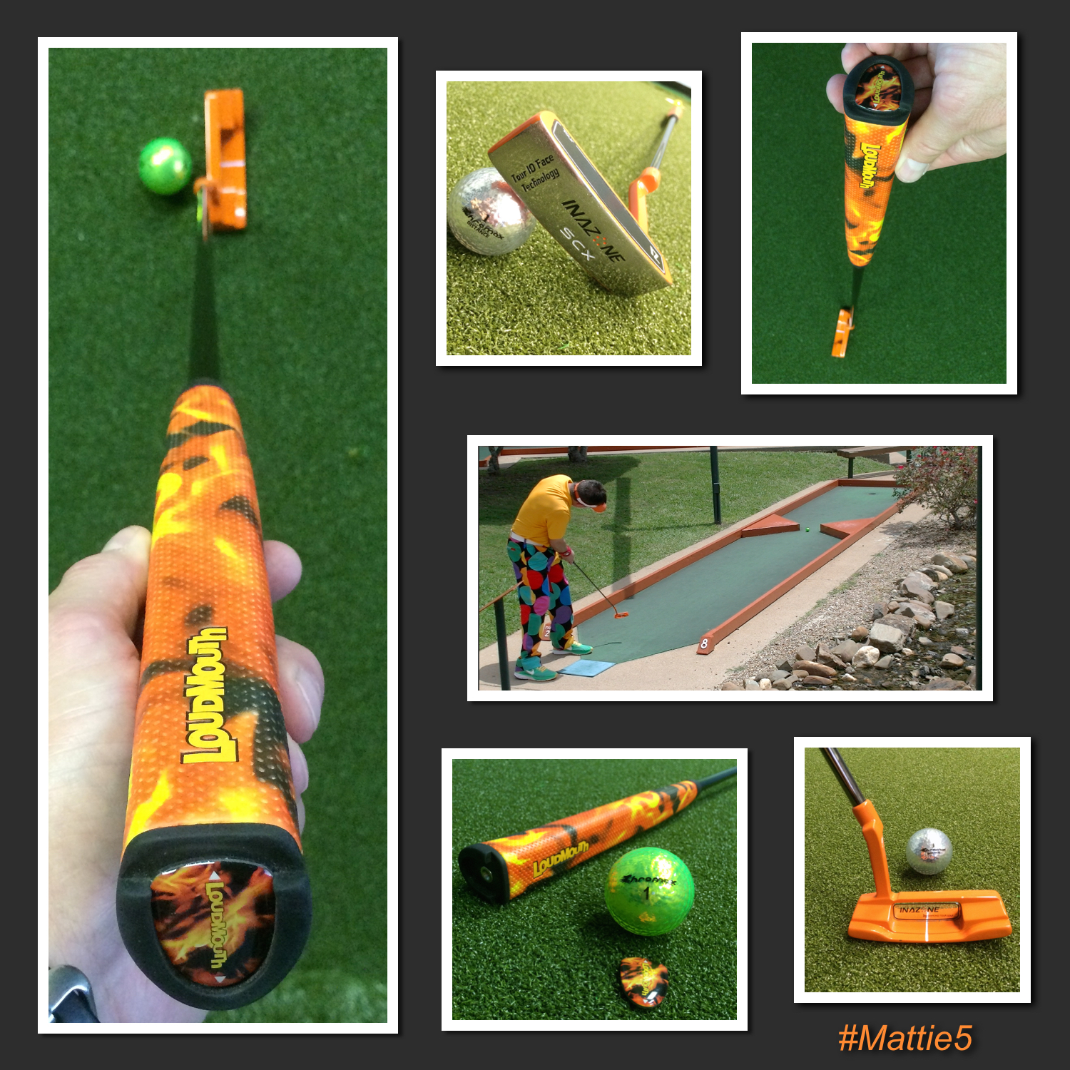 Loudmouth Orange Putter