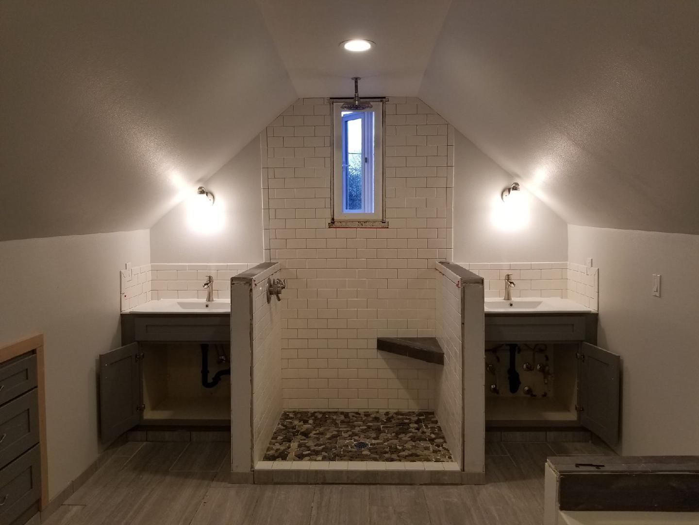 bathroom addition finish