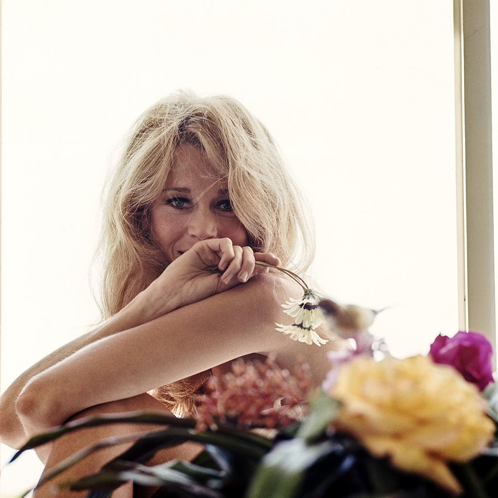 Jane Fonda with Flowers and Bird #2