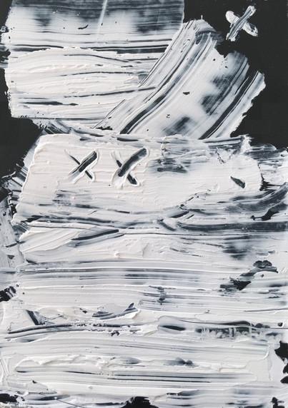 """Meral BATUR ÇAY, """"Dünyanın Ucunda Yaşayan"""", Tuval Üzerine Karışık Teknik, 7 x 10 cm, 2021."""
