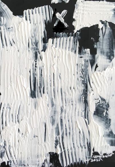 """Meral BATUR ÇAY, """"Nehrin Altındaki Nehir"""", Tuval Üzerine Karışık Teknik, 7 x 10 cm, 2021."""