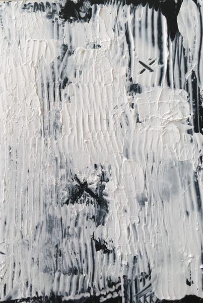"""Meral BATUR ÇAY, """"Ruhu Zedeleyen"""", Tuval Üzerine Karışık Teknik, 6 x 10 cm, 2021."""