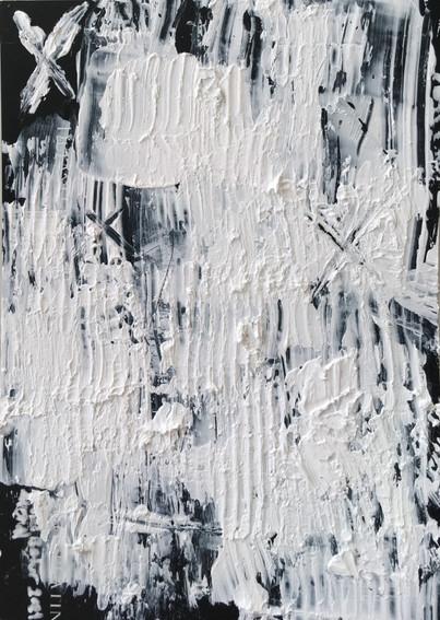 """Meral BATUR ÇAY, """"Zamanın Ötesinde"""", Tuval Üzerine Karışık Teknik, 7 x 10 cm, 2021."""