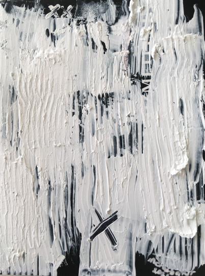 """Meral BATUR ÇAY, """"Benliğin Lirik Dili"""", Tuval Üzerine Karışık Teknik, 7 x 10 cm, 2021."""
