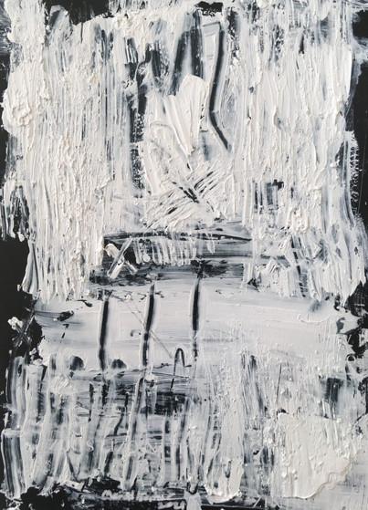 """Meral BATUR ÇAY, """"Yeraltı Ormanı"""", Tuval Üzerine Karışık Teknik, 10 x 14 cm, 2021."""