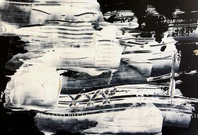 """Meral BATUR ÇAY, """"Düşlem Olmaktan Çıkan"""", Tuval Üzerine Karışık Teknik, 14 x 10 cm, 2021."""