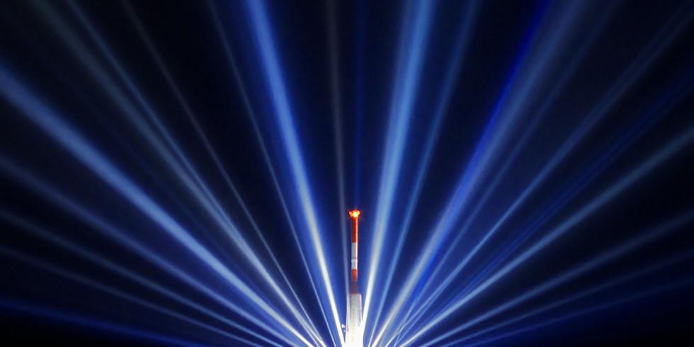 LED Light Show, Madison County Courthouse Steps