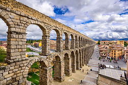 Segovia, Spain at the ancient Roman aque