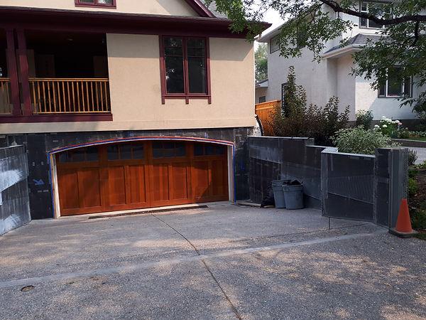 retaining wall acrylic stucco repair metal lathe during photo