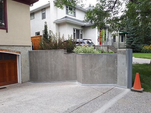 retaining wall acrylic stucco repair before