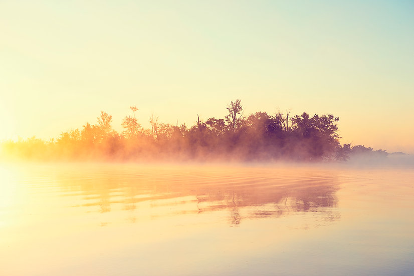 Foggy Oneida Lake Sunrise