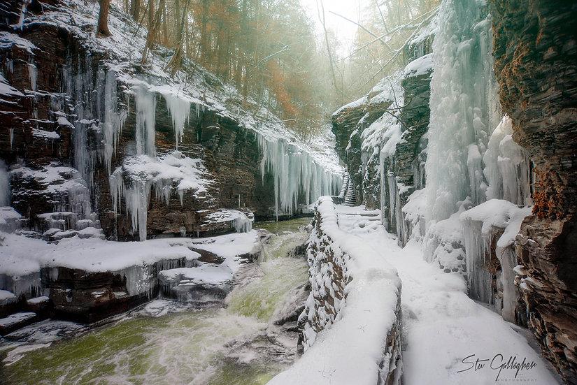 watkins glen frozen waterfalls
