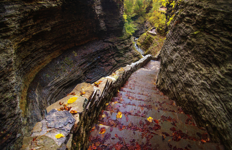 watkins glen state park stairs 2