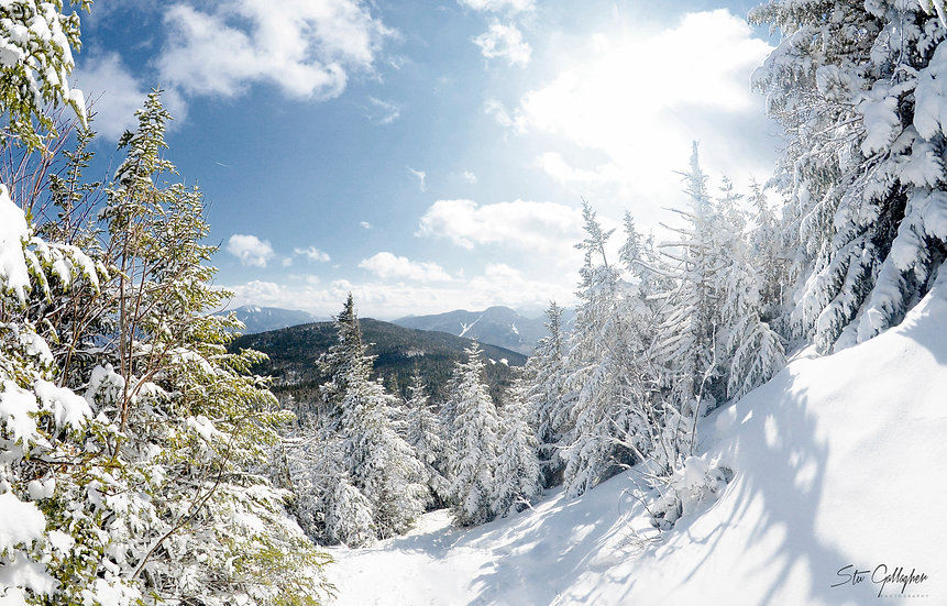 Big Slide Mountain snow