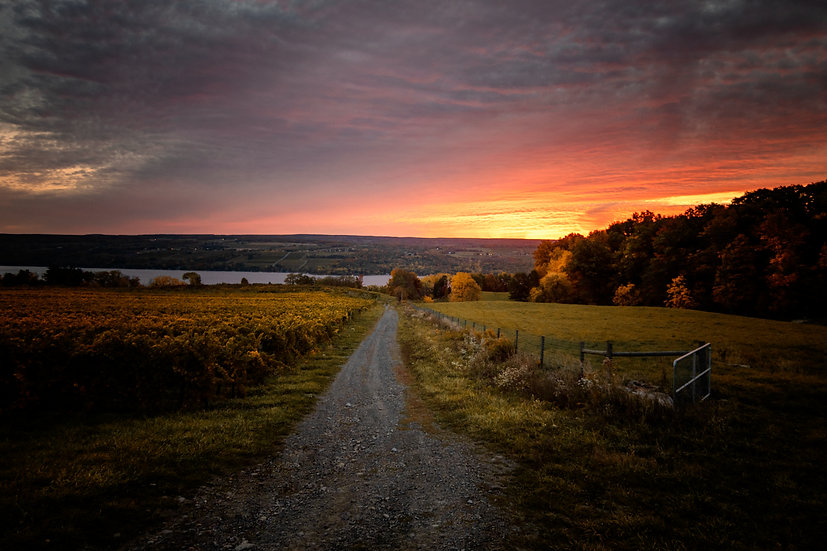 Autumn Sunrise Over Seneca Lake