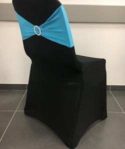 Housse Noire Bandeau Bleu