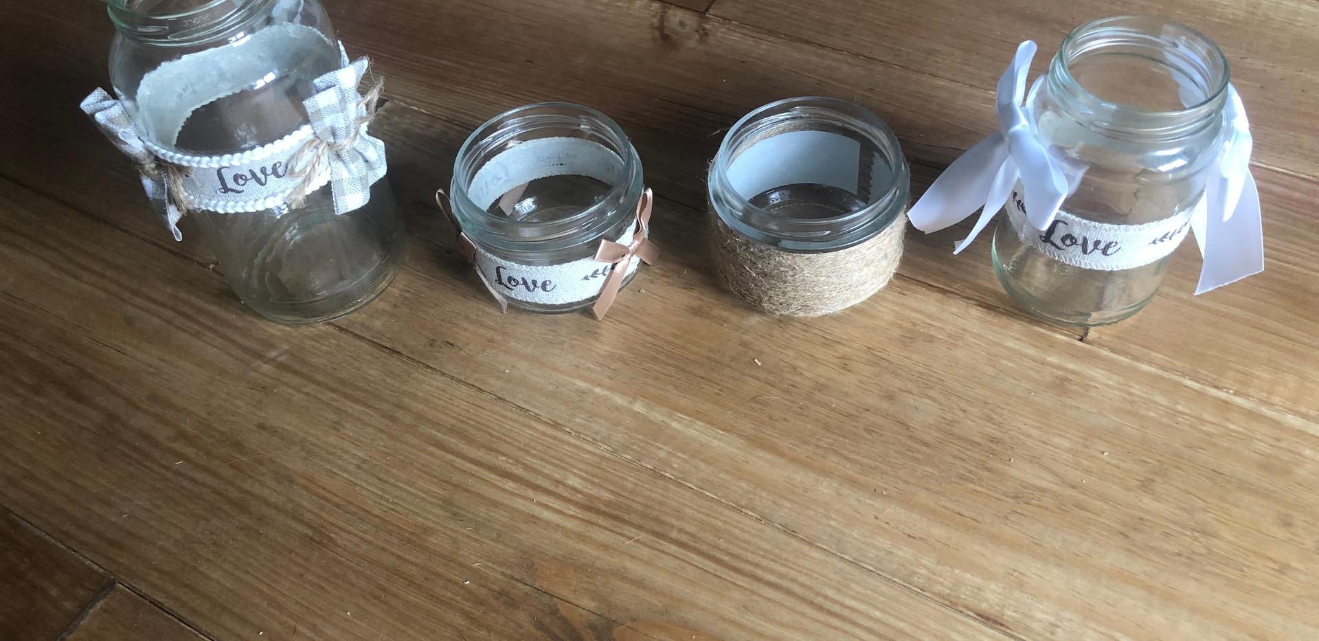 Pots de décoration de tables