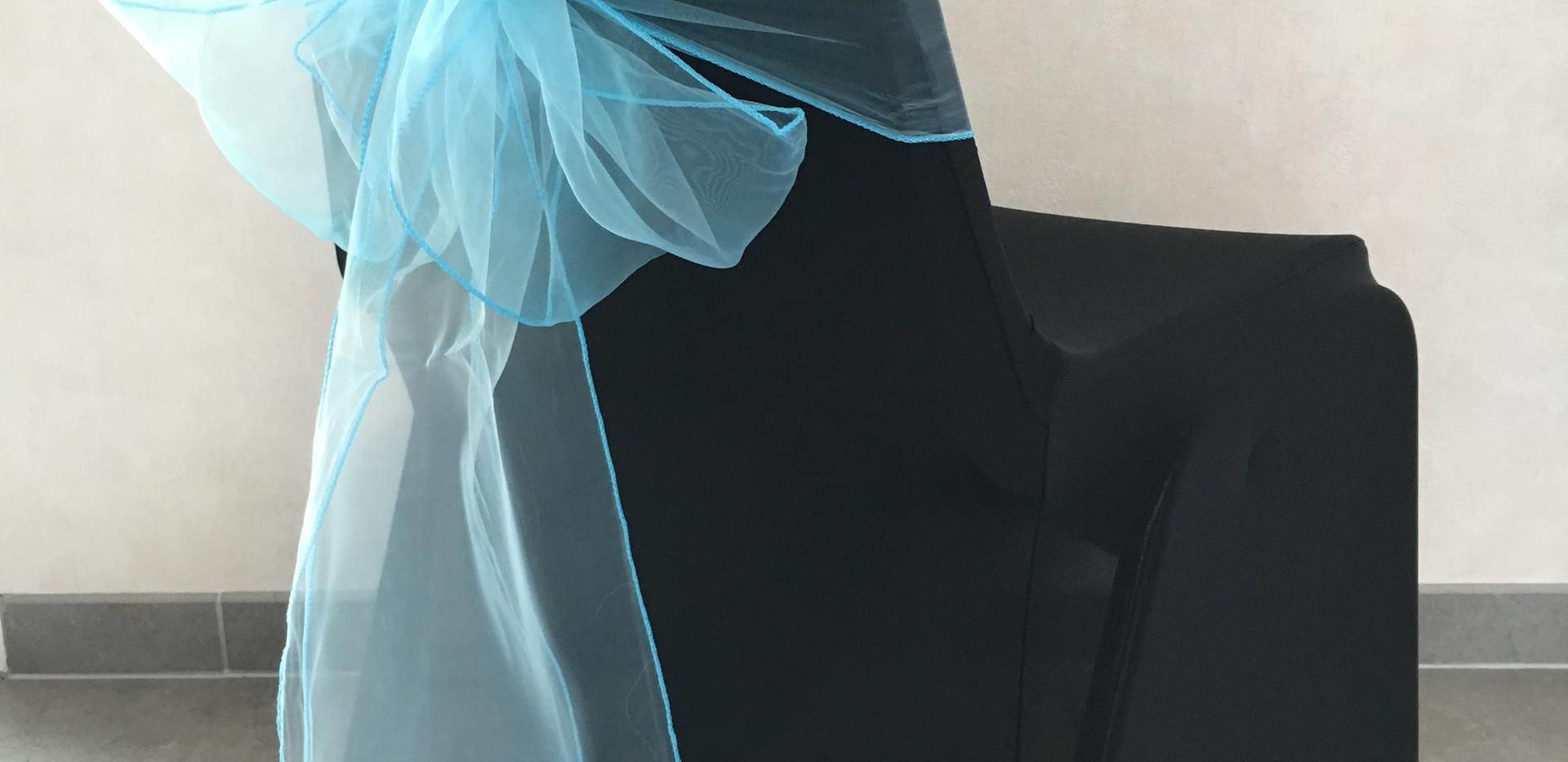 Housse noire Neud Bleu