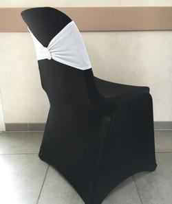 Housse Noire Bandeau Blanc