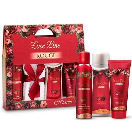 Hlavin Love Line Rouge Set מארז מתנה לאישה לאב ליין רוז' מבית חלאבין 7296179021820