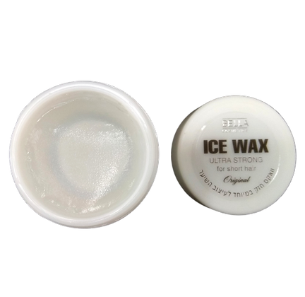 ICE WAX  אייס ווקס לבן. ווקס חזק  לעיצוב השיער  7290015046053